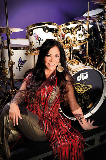Sheila E with Prince tribute drum kit