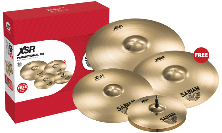 CYMBALES SABIAN XSR PACK PROMO