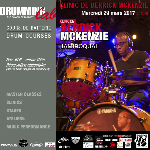 DERRICK MC KENZIE AU DRUMMING LAB